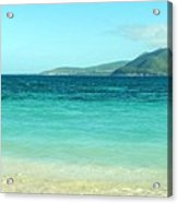 White Sand Blue Sky Blue Water Acrylic Print