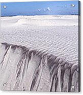 White Sand Acrylic Print by Frits Selier