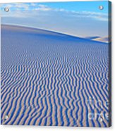White Sand Patterns New Mexico Acrylic Print by Bob Christopher