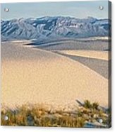 White Sands Morning #1 - New Mexico Acrylic Print