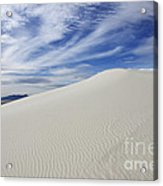 White Sands National Monument Big Dune Acrylic Print by Bob Christopher