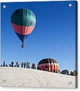 White Sands New Mexico Balloon Festival Acrylic Print