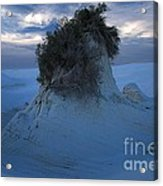 White Sands Turns Blue Acrylic Print