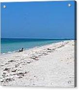 White Sandy Beach Acrylic Print