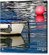 White Skiff - Lyme Regis Harbour Acrylic Print
