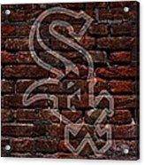 White Sox Baseball Graffiti On Brick  Acrylic Print by Movie Poster Prints