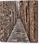 White Streets Of Dubrovnik No3 Acrylic Print