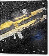 White Stripes Acrylic Print