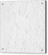 White Stucco Acrylic Print