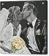 White Wedding Acrylic Print
