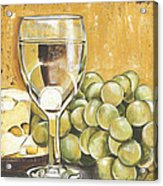 White Wine And Cheese Acrylic Print by Debbie DeWitt