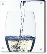 White Wine Pouring Acrylic Print by Garry Gay