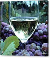 White Wine Reflections Acrylic Print