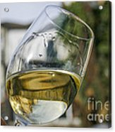 White Wine Swirling In A Glass Acrylic Print by Patricia Hofmeester
