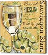 White Wine Text Acrylic Print