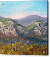 Whitehorse And Cathedral Ledges From The Red Jacket Inn Acrylic Print