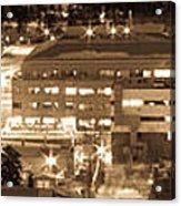 Whitehorse Downtown At Night Acrylic Print