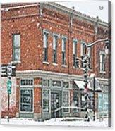 Whitehouse Ohio In Snow 7032 Acrylic Print