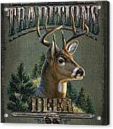 Whitetail Deer Traditions Acrylic Print by JQ Licensing