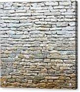 Whitewash Old Stone Wall Acrylic Print