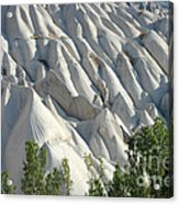 Whitewashed Rock From A Hot Air Balloon Acrylic Print