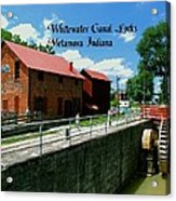 Whitewater Canal Locks Acrylic Print