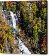 Whitewater Falls With Rainbow Acrylic Print