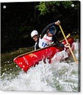 Whitewater Open Canoe Race Acrylic Print