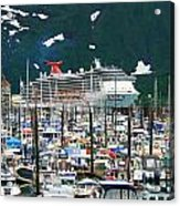 Whittier Alaska Boat Harbor Acrylic Print