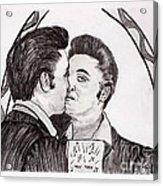 Elvis Who Loves Ya Baby? Acrylic Print