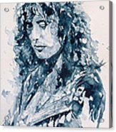 Whole Lotta Love Jimmy Page Acrylic Print by Paul Lovering