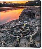 Whonnock Lake Sand Castle Acrylic Print
