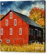 Why Do They Paint Barns Red? Acrylic Print
