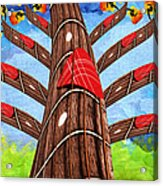 Why Pick On Me Guitar Abstract Tree Acrylic Print