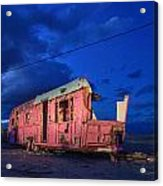 Why Pink Airstream Travel Trailer Acrylic Print