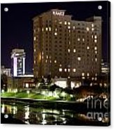Wichita Hyatt Along The Arkansas River Acrylic Print