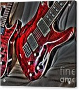 Wicked Relations Digital Guitar Art By Steven Langston Acrylic Print by Steven Lebron Langston
