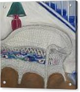 Wicker Couch Acrylic Print