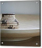 Wicker On Wood Acrylic Print