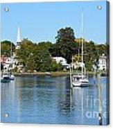 Wickford Village Waterfront Acrylic Print