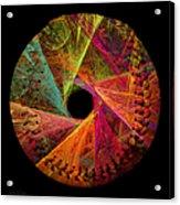 Wide Eye Color Delight  Baseball Square Acrylic Print