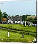 Wide Panorama Of Stone Circle Avebury Circle  Wiltshire Uk  Acrylic Print