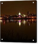 Wide Shot Of The City Skyline Acrylic Print