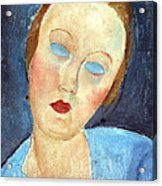 Wife Of The Painter Survage Acrylic Print by Amedeo Modigliani