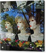 Wig Shop Window Acrylic Print