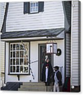 Wigmaker And Barber Shop Williamsburg Virginia Acrylic Print