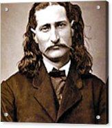 Wild Bill Hickok Painterly Acrylic Print by Daniel Hagerman