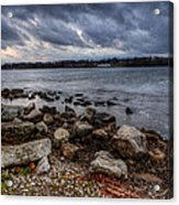 Wild Clouds On The Lake Acrylic Print