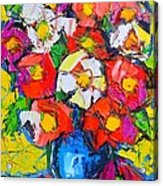 Wild Colorful Flowers Acrylic Print