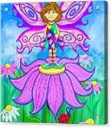 Wild Flower Fairy  Acrylic Print